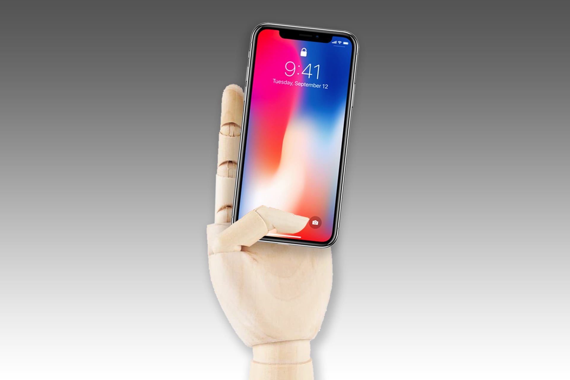 Mannequin-hand phone charger